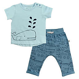 Mac & Moon Baby Boys 2-Piece Nautical Set in Blue