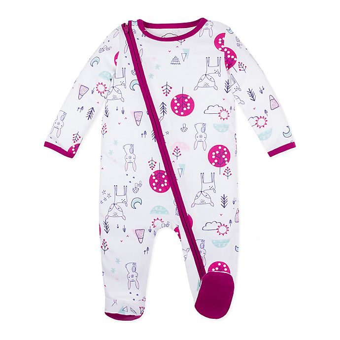 Alternate image 1 for Lamaze® Bunny Organic Cotton Footie in White