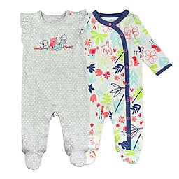 Mac & Moon 2-Pack Floral Sleep & Play Pajamas