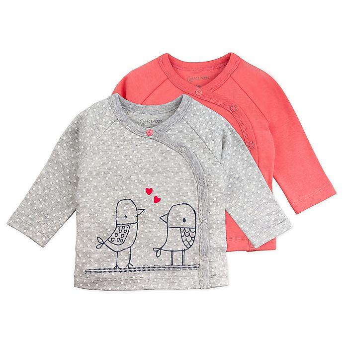 Alternate image 1 for Mac & Moon 2-Pack Bird Long Sleeve Kimono Tops