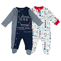 Mac & Moon Baby Boys 2-Pack Sleep & Play Pajamas
