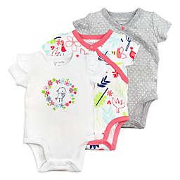 Mac & Moon 3-Pack Floral Short Sleeve Bodysuits