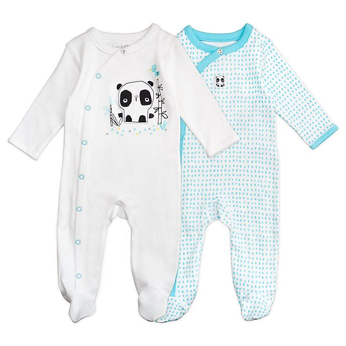 Alternate image 1 for Mac & Moon Baby Boys 2-Pack Panda Sleep & Play Pajamas