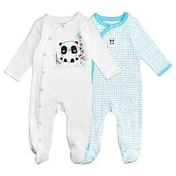 Mac & Moon Baby Boys 2-Pack Panda Sleep & Play Pajamas