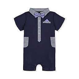 Beetle & Thread Bowtie Romper in Navy