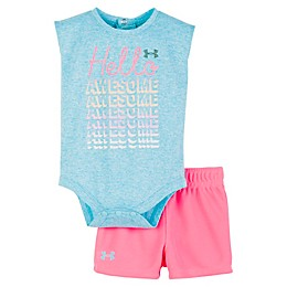 "Under Armour® 2-Piece ""Hello Awesome"" Bodysuit and Shirt Set"