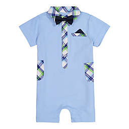 Beetle & Thread Bow Tie Coverall in Light Blue