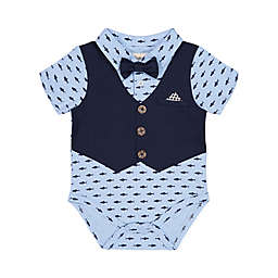 Beetle Thread Polo Shirtzie In Light Blue Navy