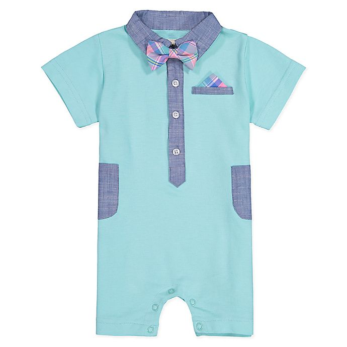 Alternate image 1 for Beetle & Thread Bow Tie Coverall in Mint