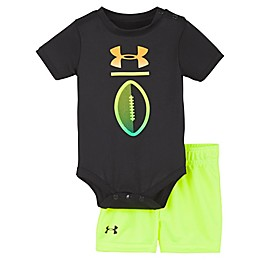 Under Armour® 2-Piece Football Bodysuit and Short Set in Black