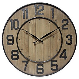 Infinity Instruments 23-Inch Wine Barrel Wall Clock