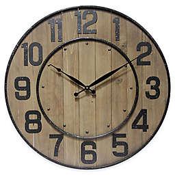 Infinity Instruments 23-Inch Wine Barrel Wall Clock