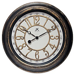 Infinity Instruments 16-Inch Harbor Wall Clock in Brown