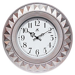 Infinity Instruments 18-Inch Elegance Wall Clock in Silver
