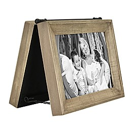 Bee & Willow™ Home 2-Photo 5-Inch x 7-Inch Hinged Frame in Brown