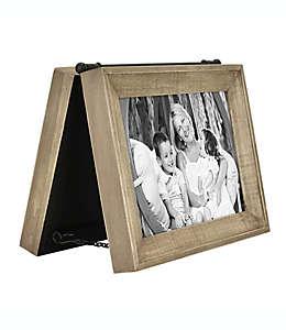 Bee & Willow™ Home Portarretratos con bisagras para 2 fotografías en café