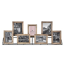 Bee & Willow™ Home 7-Photo Collage Rustic Frame in Brown
