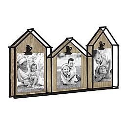 Bee & Willow™ Home 3-Photo House Collage Frame in Black