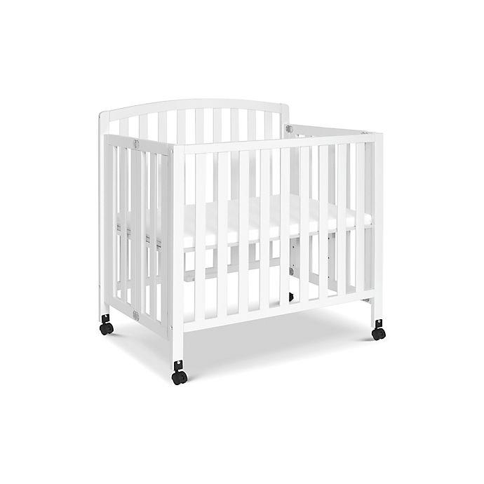 Alternate image 1 for DaVinci Dylan 3-in-1 Convertible Mini Crib in White