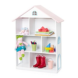 Wildkin Dollhouse Bookcase in White