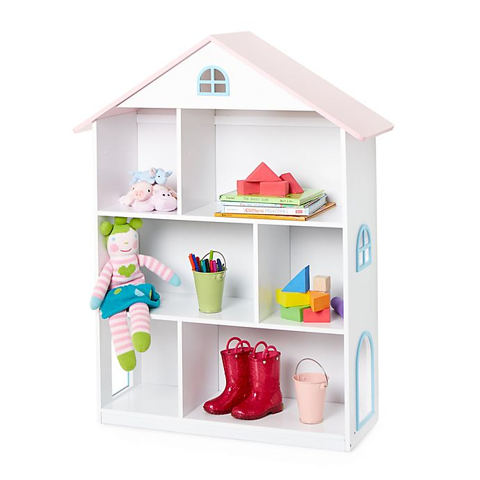 Alternate image 1 for Wildkin Dollhouse Bookcase in White
