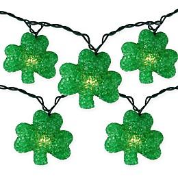 Northlight 10-Light St. Patrick's Day Shamrock String Light Set in Green