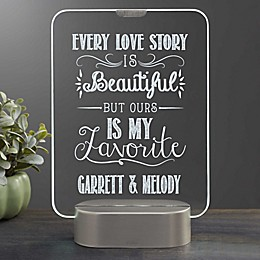 Love Quotes Personalized Light Up LED Glass