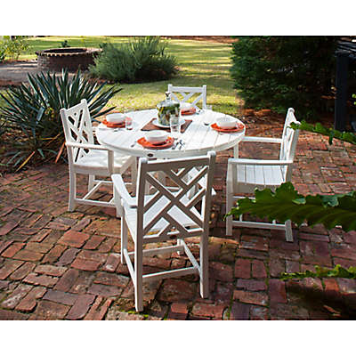 POLYWOOD® Chippendale 5-Piece Outdoor Dining Set