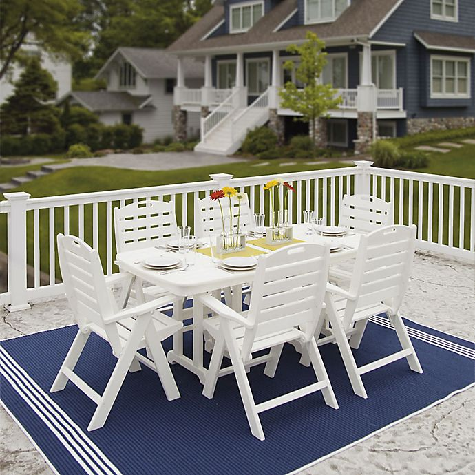 Polywood Nautical 7 Piece Outdoor Dining Set Bed Bath Beyond