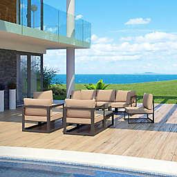 Modway Fortuna Outdoor10-Piece Patio Sectional Sofa Set