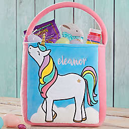 Unicorn Embroidered Easter Treat Bag