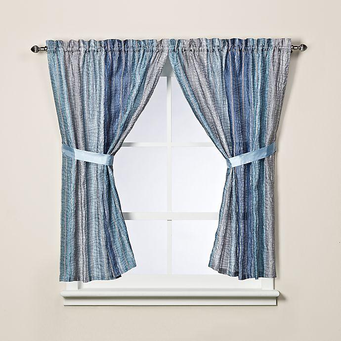 Alternate image 1 for Sierra Blue Bath Window Curtain Panel Pair