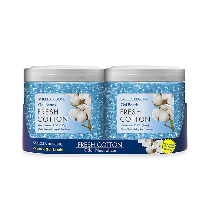 Alternate image 1 for Smells BeGone® 2-Pack Fresh Cotton Odor Neutralizing Gel Beads