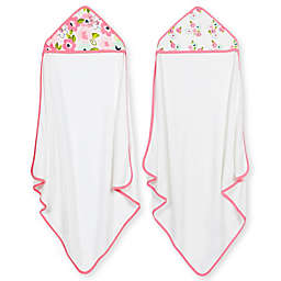 Just Born® 2-Pack Blossom Hooded Towels in Pink
