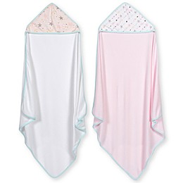 Just Born® 2-Pack Love and Sugar Hooded Towels in Pink