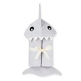 Shark Hooded Towel in Grey