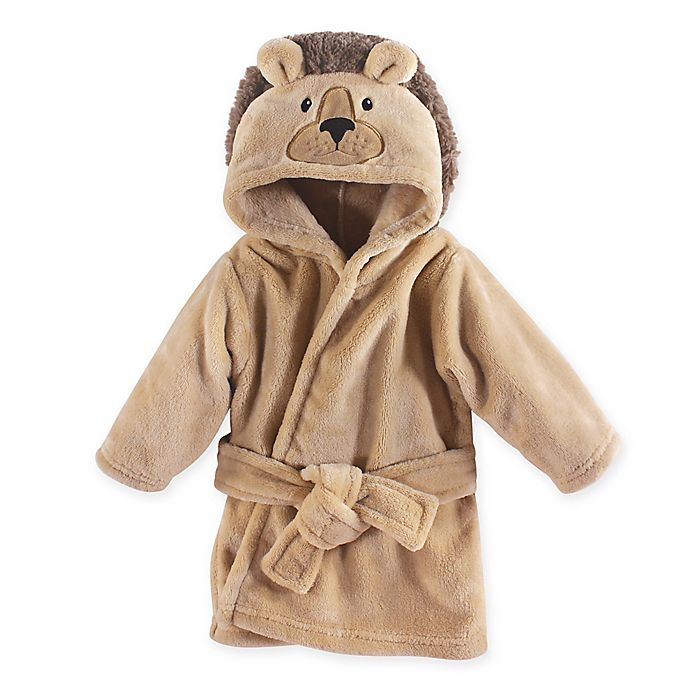 Alternate image 1 for Hudson Baby® Size 0-9M Lion Terry Bathrobe in Beige