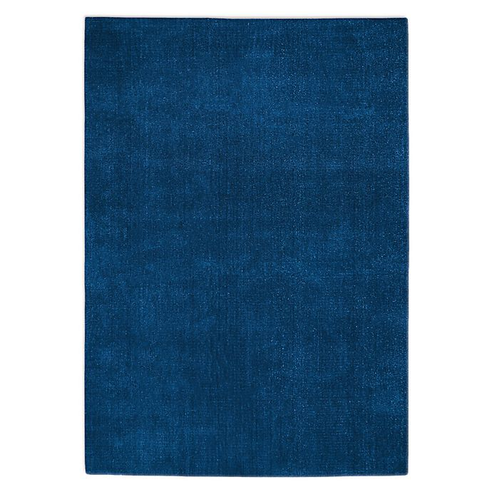 Alternate image 1 for Calvin Klein® Sacremento Loom Woven Solid 9'9 x 13'9 Area Rug in Blue