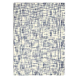 Calvin Klein® Tucson Hand Tufted Abstract 5'3 x 7'5 Area Rug in Ivory/Navy