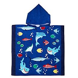 Sea Party Beach Towel in Blue