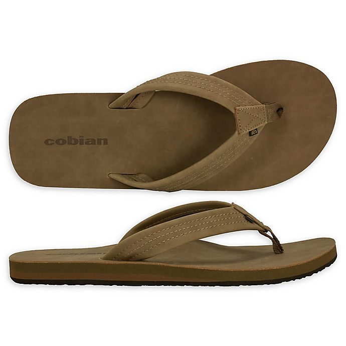 Alternate image 1 for Cobian Las Olas Men's Size 10 Sandal in Tan