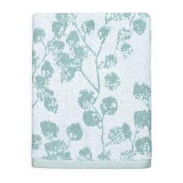 Colordrift Botanical Hand Towel in Aqua