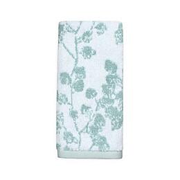 Colordrift Botanical Fingertip Towel in Aqua