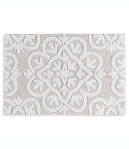 Tapete para baño Felicity con diseño en relieve de 50.8 x 76.2 cm en gris
