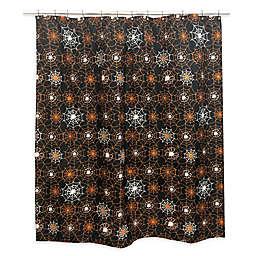 Spider Web Shower Curtain in Black