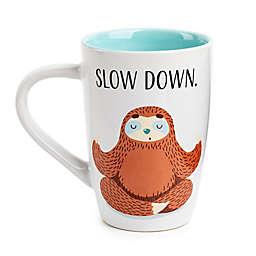 "Core Kitchen ""Slow Down"" Sloth Mug in White/Brown"