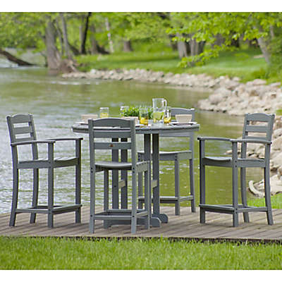 POLYWOOD® La Casa 5-Piece Outdoor Counter Height Table Set