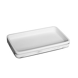 Duo Marble Towel Tray in White