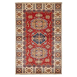 Feizy Rugs One of a Kind Super Kazak 3'2 x 4'11 Area Rug in Ivory/Red