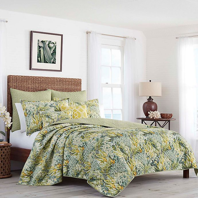 Alternate image 1 for Tommy Bahama® Cuba Cabana King Quilt in Green